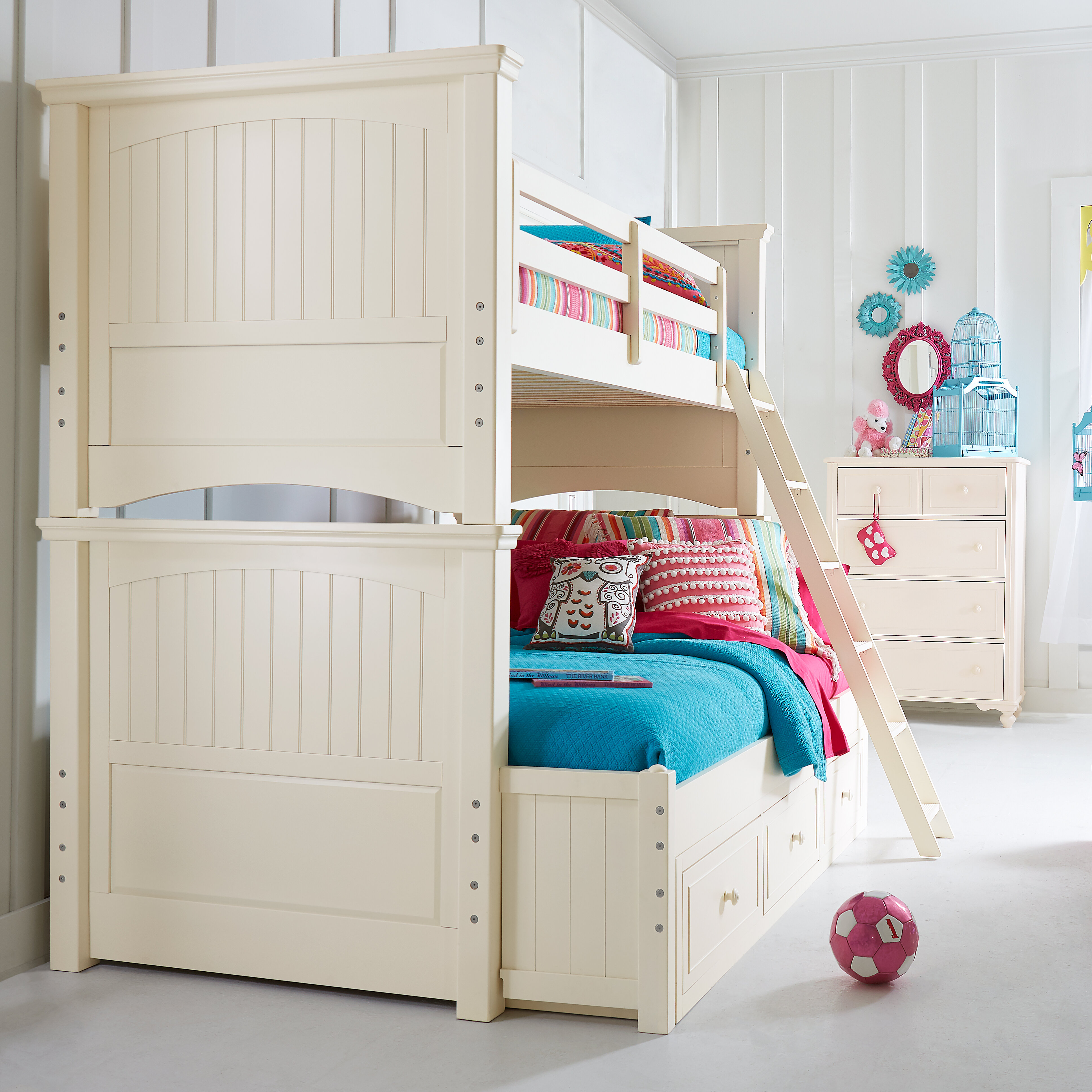 LC Kids Summerset Twin Over Full Storage Bunk Bed Customizable ...