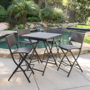 Latitude Run Kerr 5 Piece Bar Height Dining Set