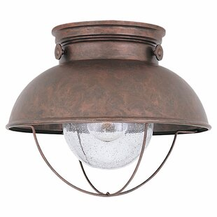 Great Price Corbel 1-Light LED Outdoor Flush Mount By Beachcrest Home