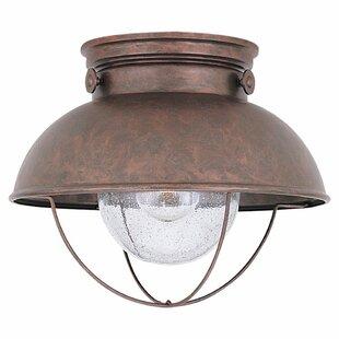 Bargain Corbel 1-Light LED Outdoor Flush Mount By Beachcrest Home