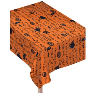 Halloween Wicked Words Tablecloth
