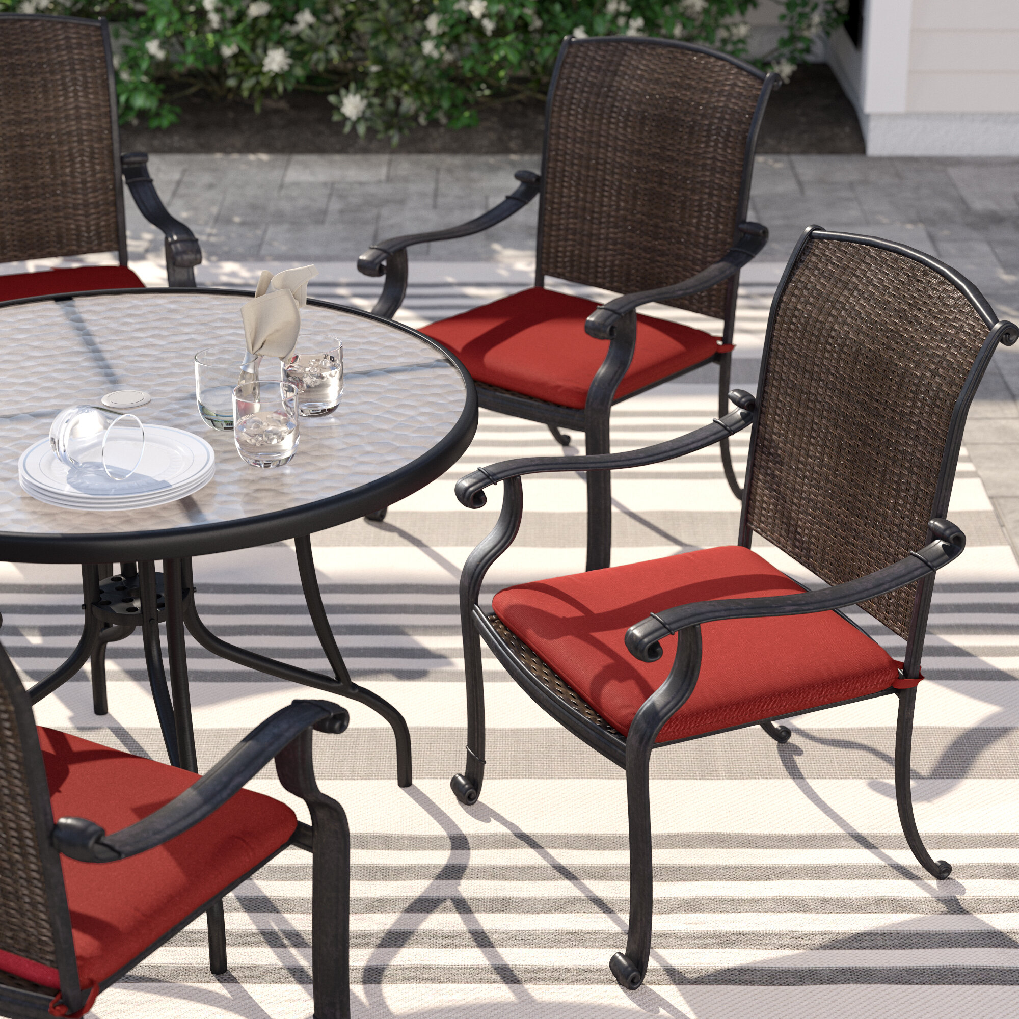 Round Home Chair Pads Dining Home Seat Pads Indoor Outdoor  Stool Patio HX