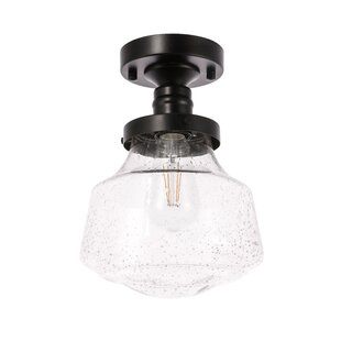 Sauve 1-Light Semi Flush Mount by Breakwater Bay