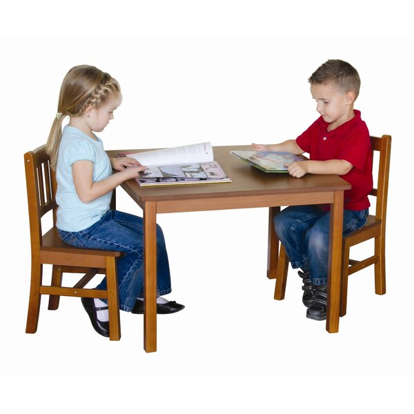 Guidecraft New Mission Kidu0027s 3 Piece Table And Chair Set U0026 Reviews | Wayfair