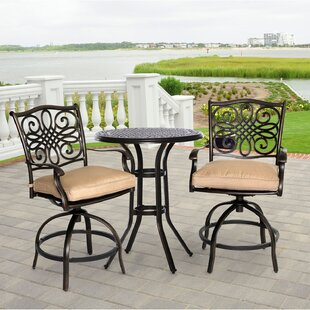 Darby Home Co Eden 3 Piece Dining Set with Cushions