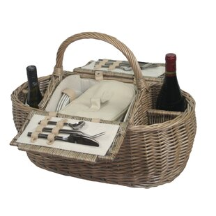 Boat Picnic Basket By Beachcrest Home