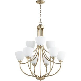Rhea 9-Light Shaded Chandelier by Andover Mills