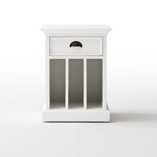 Reviews Amityville 1 Drawer Nightstand by Beachcrest Home