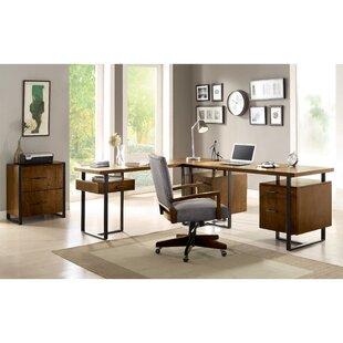 Mistana Lexus 3 Piece L-Shaped Desk Office Suite