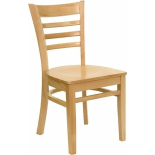 Duprey Solid Wood Dining Chair with Ladde..
