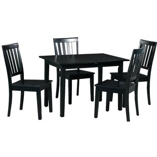 Spiller 5 Piece Extendable Solid Wood Dining Set