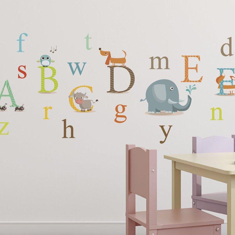 Animals Alphabet Nursery Wall Decal