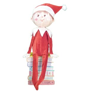 elf on the shelf 3 d sitting elf christmas decoration with lights