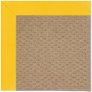 Lisle Machine Tufted Summertime Yellow/Brown Indoor/Outdoor Area Rug