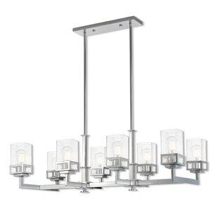 Ebern Designs Nailwell Linear 8-Light Kitchen Island Pendant
