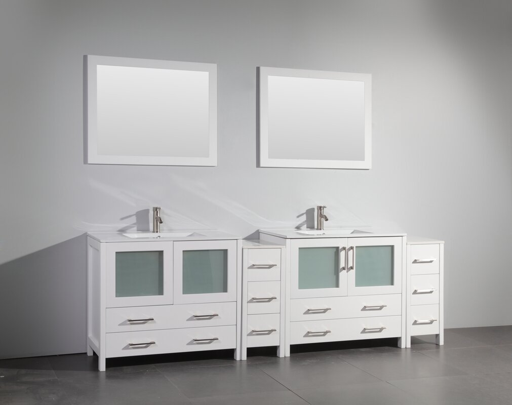 96 double bathroom vanity set with mirror reviews allmodern 96 double bathroom vanity set with mirror geotapseo Image collections