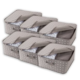 Missy Fabric Underbed Storage (Set Of 6) By Rebrilliant