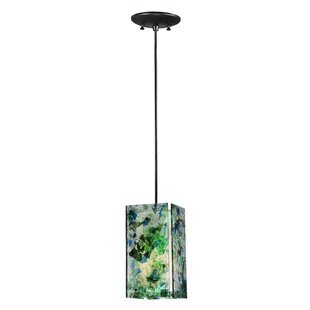 Metro Times Square Quadrato 1-Light Square/Rectangle Pendant by Meyda Tiffany
