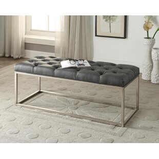 Chalk Button-Tufted Upholstered Bench by Mercer41 2019 Sale