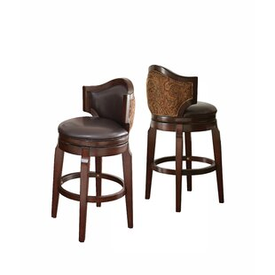 Dupo 30 Swivel Bar Stool (Set Of 2) by DarHome Co New