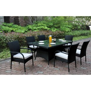 JB Patio 7 Piece Dining Set with Cushions