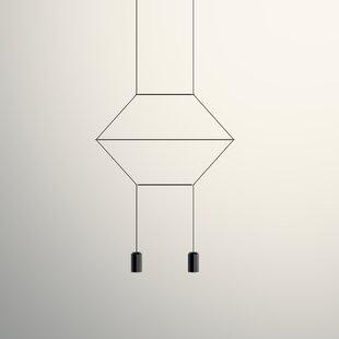 Vibia Wireflow 2D 2-Light Geometric Chandelier