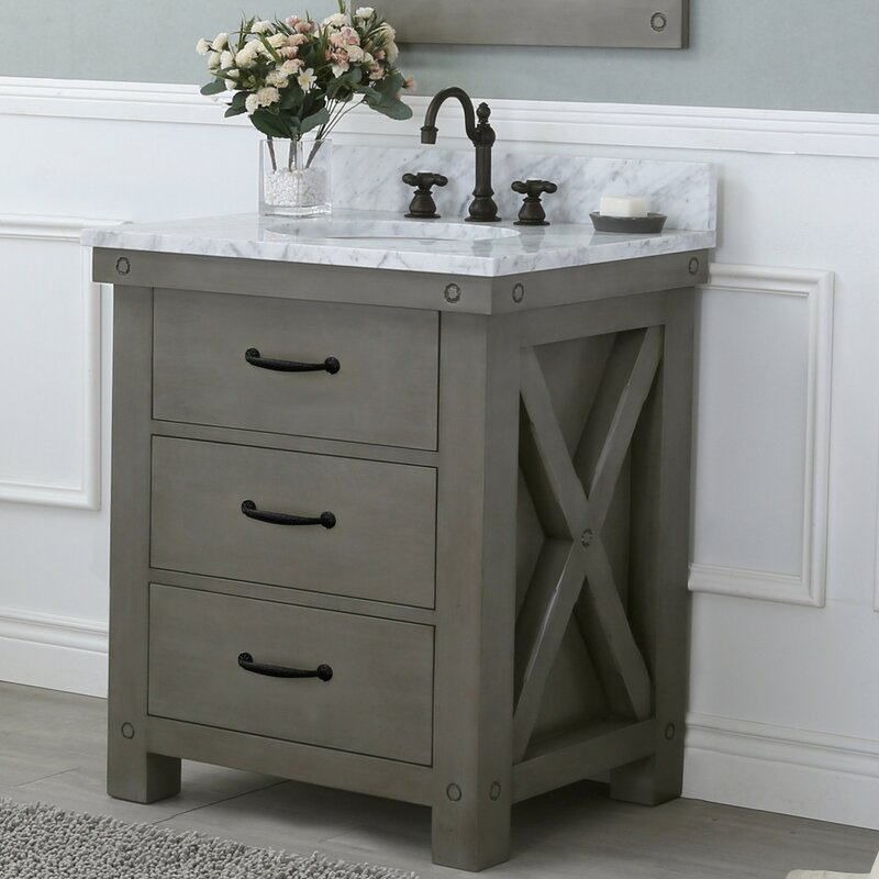 Laurel Foundry Modern Farmhouse Sean 30 Single Bathroom Vanity Set Reviews Wayfair