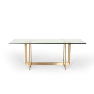 Jayleen Modern Dining Table by Willa Arlo..
