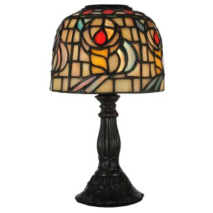 Tiffany Rosebud Candle 9.25 Table Lamp