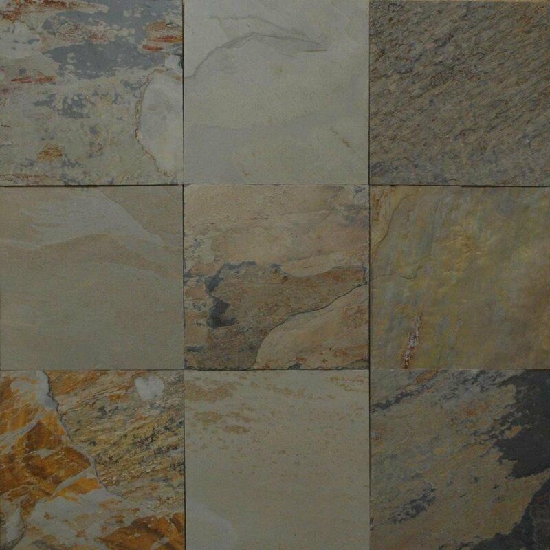 autumn natural cleft face gauged back 18x18 slate field tile