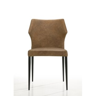 Myah Upholstered Stacking Side Chair Set of 2
