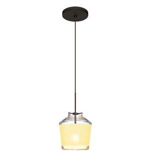 Pica 1-Light Jar Pendant by Besa Lighting