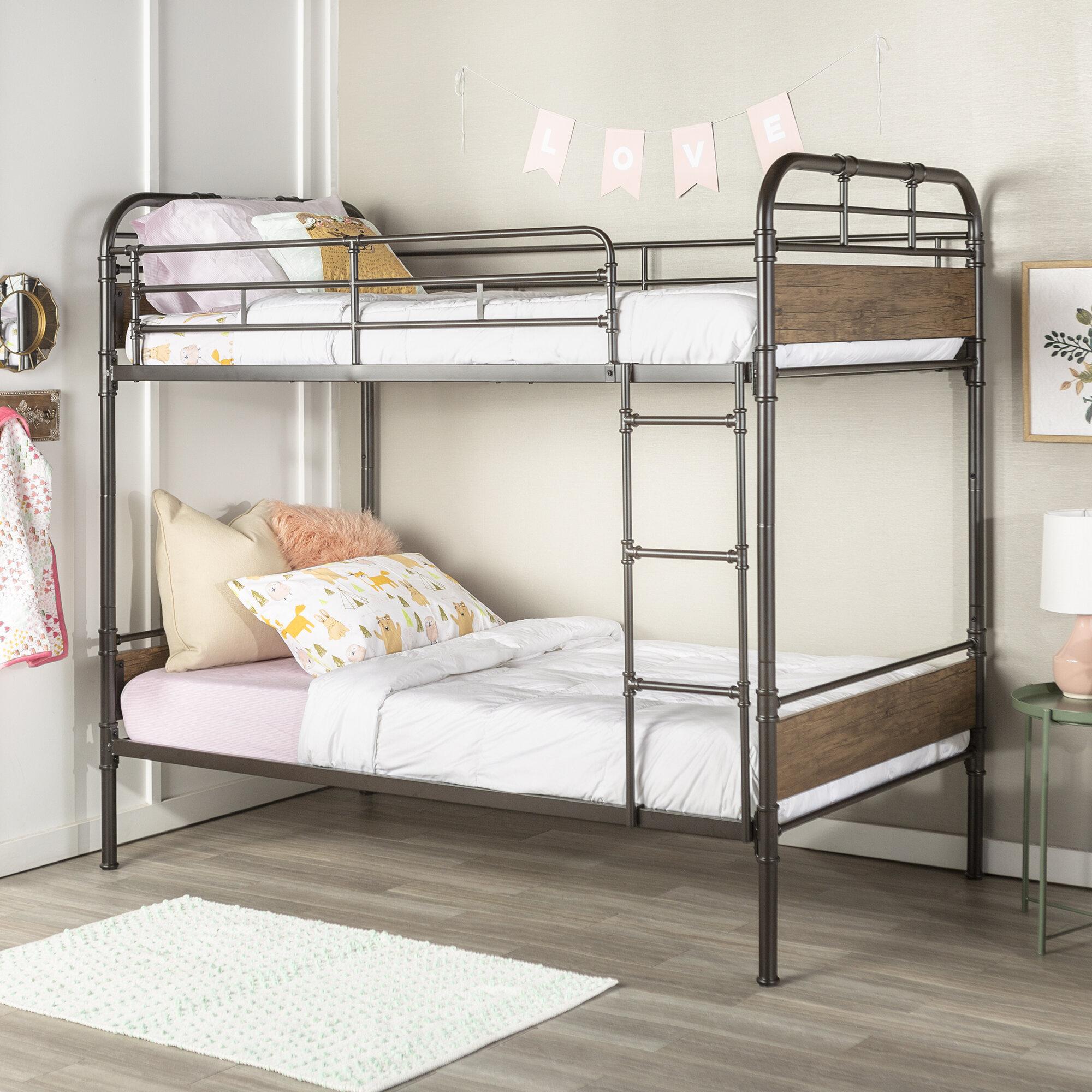 Harriet Bee Bassik Twin Over Twin Bunk Bed Wayfair