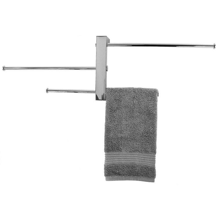 Bridge Sliding 3-Tier Wall Mounted Towel Rack