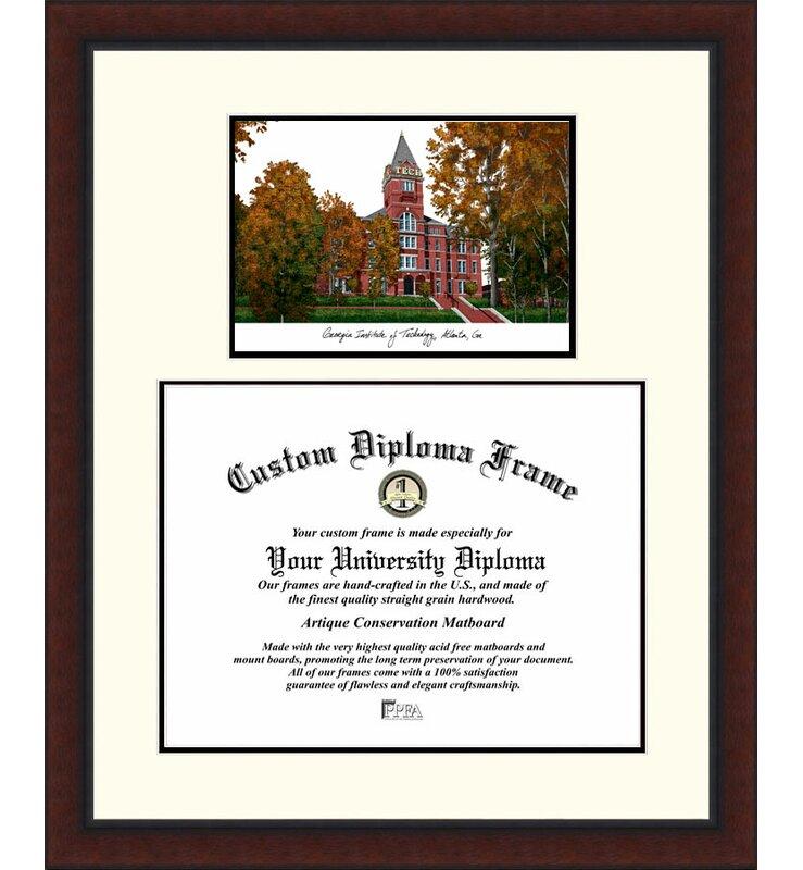 Campus Images Ncaa Georgia Tech Yellow Jackets Legacy Scholar Diploma Frame Wayfair