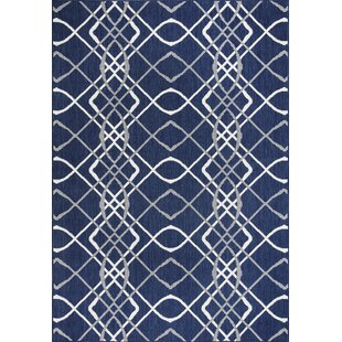 Tammy Navy/Ivory Indoor/Outdoor Area Rug