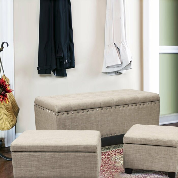 Wondrous Columbard 3 Piece Storage Ottoman Set Gmtry Best Dining Table And Chair Ideas Images Gmtryco