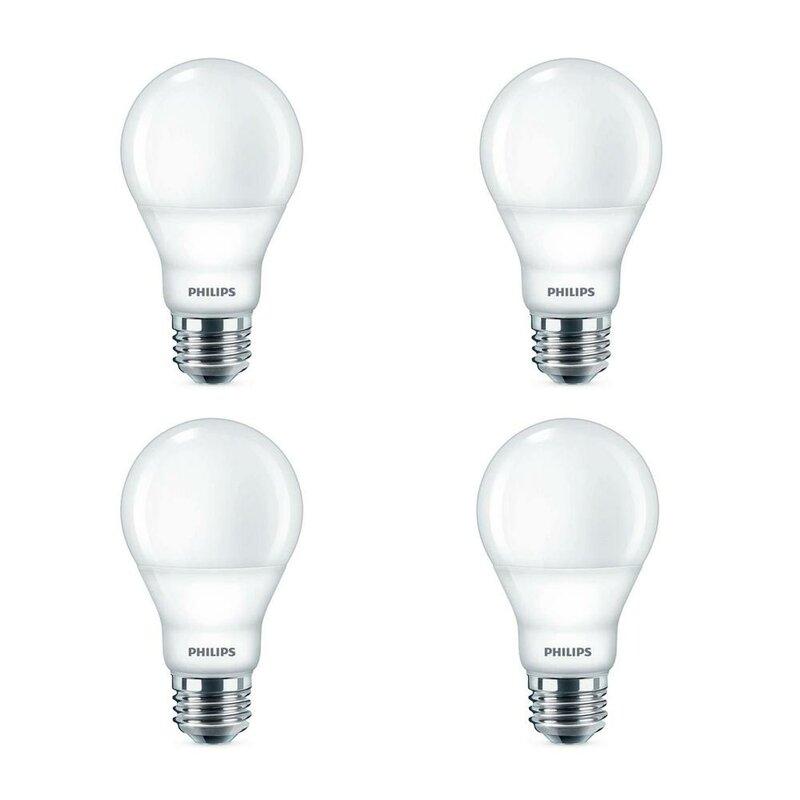 Philips 60 Watt Equivalent A19 Led Non Dimmable Light Bulb Warm White 2700k E26 Medium Standard Base Reviews Wayfair