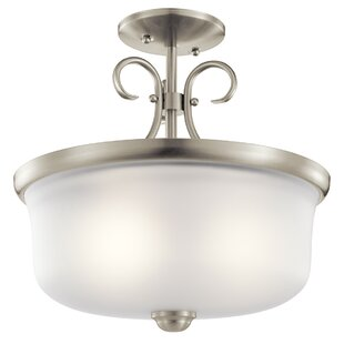 Bourneville 2-Light Semi Flush Mount by Darby Home Co