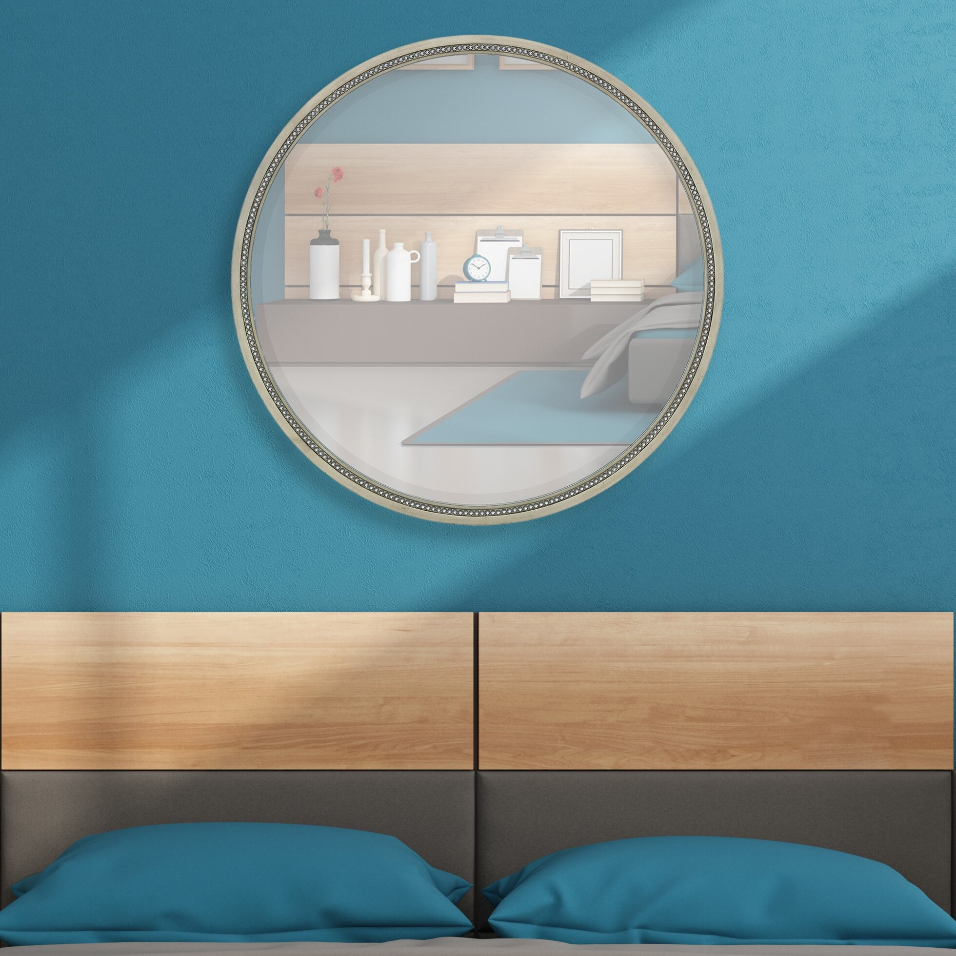 Amazing Round Simple Framed Wall Mirror. By Majestic Mirror