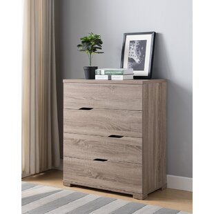 Milly Wooden Utility Storage 4 Drawer Chest