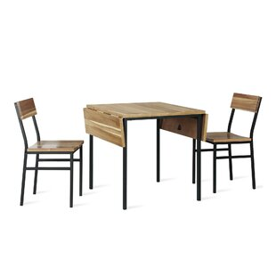 Edmont 3 Piece Drop Leaf Dining Set Williston Forge