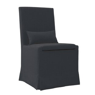 Hoang Dining Charcoal Gray Upholstered Dining Chair by Gracie Oaks