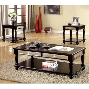 Darby Home Co Rushford 3 Piece Coffee Table Set
