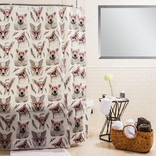 Peva Woodland Creatures Shower Curtain