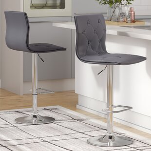 Niven Adjustable Height Swivel Bar Stool by Orren Ellis