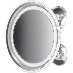 Best Reviews Moresi Round Suction Cup LED Makeup/Shaving Mirror ByWinston Porter