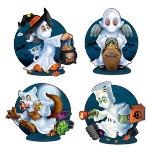 Halloween Ghost Kids Cutouts (Set of 16)