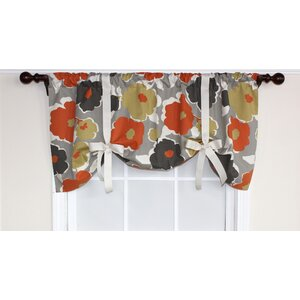 Flower Power Tie-Up Curtain Valance