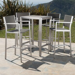 Royalston 5 Piece Bar Height Dining Set b..